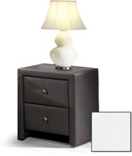 Klara Sängbord - Vitt Eco läder