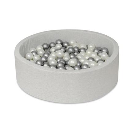 PQP- Bollhav - Ljusgrått - 150 Bollar - Diameter 90 Cm - Höjd 30 Cm