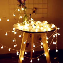 Holiday Light Chain Ball LED String Lighting 3M 6M USB Lamp Bulb Light String Waterproof Outdoor Wedding Christmas Led String