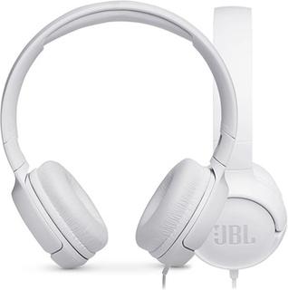 JBL Tune 500 PureBass On-Ear Høretelefoner - Hvid