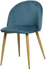 Nellie sammet stol i Blå