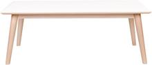 Nora soffbord 120 cm - vit och ek