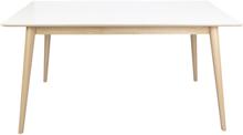 Nora matbord vit/trä - 150/190/230 cm med tilläggsskiva