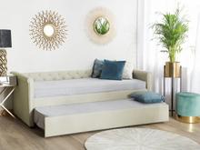 Beliani Dagbädd 90 x 200 cm beige LIBOURNE
