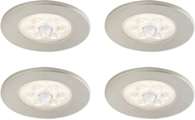 Loveschall ID downlight med sensor, 4-kit, 2,3W LED, stål