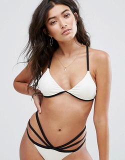 Billabong Rib Strappy Bikini Top - White