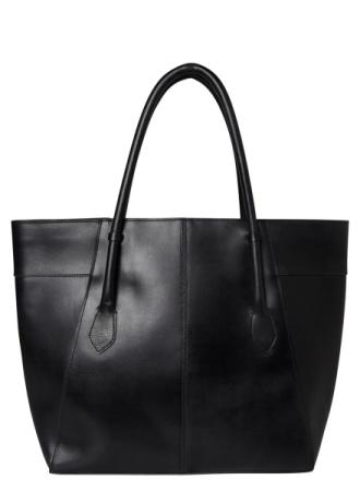 PIECES Leather Shopper Bag Women Black