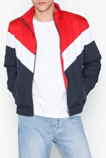 River Island Chevron Padded Liner Jakker & frakker Navy/Red