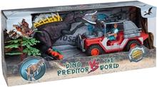 Övrigt lek Lekset med dinosaurier, figurer & bil
