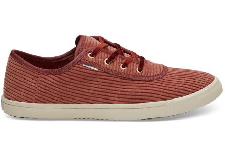 TOMS Schuhe Spice Rot Cord Carmel Für Damen - Größe 38