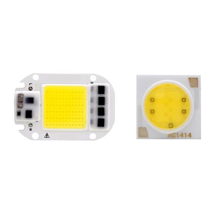 LED COB Chip 20W 30W 50W 3W 5W 7W 9W 12W 15W 18W 110V 220V Smart IC Light High Lumen Chip For DIY LED Floodlight Soptlight Bead