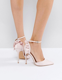 ASOS PALOMA Frill Pointed High Heels - Beige