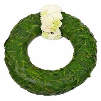 Krans i grønt og hvitt