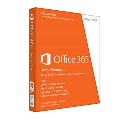 Microsoft Office 365 Home - 5 enheter + 5 tablets