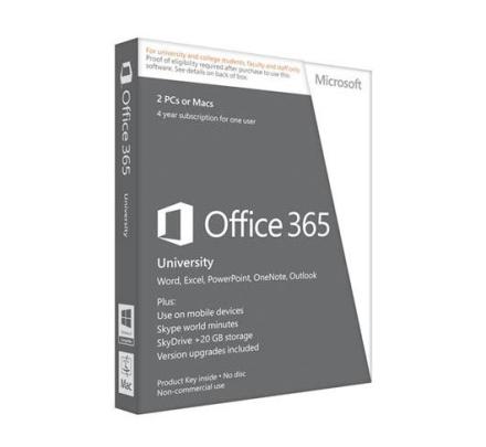 Office 365 University - 2 PC/2 Mac + 2 mobila enheter / 4 år