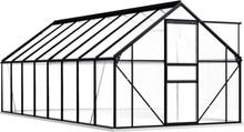 Drivhus med fundament 190x490cm - 9,31 m²
