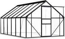 Drivhus med fundament 190x370cm - 7,03 m²