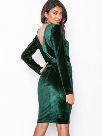 NLY Eve Twist Back Midi Dress Grønn