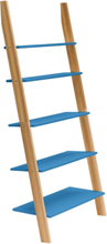 ASHME Leiterregal 85x35x180cm - Blau - Blau