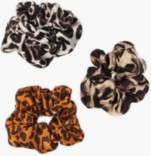 NLY Accessories 3 pack Animal Print Scrunchies Håraccessoarer