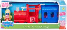 Peppa Gris Tog og vogn med 2 figurer