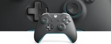 Kontroler bezprzewodowy do konsoli Xbox — szary/niebieski