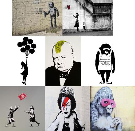 Banksy plakat kunst Foto avtrykk Graffiti vegg dekor Fan Art A0 A1 ...