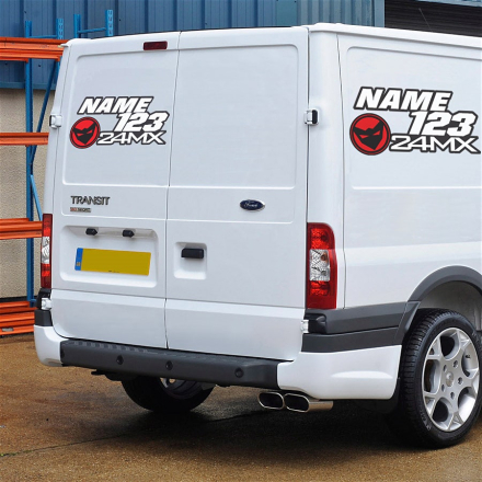 24MX Henkilökohtaiset tarrat pakettiautoon, minibussiin tai vaunuun