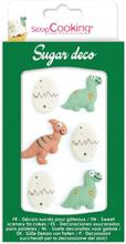 Sockerdekorationer Dinosaurier