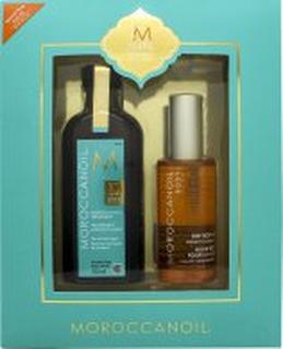 Moroccanoil 10 Year Anniversary Gift Set 100ml Treatment + 100ml Dry Body Oil
