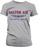 Daltons Air Charter Service Girly Tee HeatherGrey