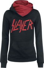 Slayer - Logo -Hettegenser - svart, rød