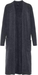 Y.A.S Long Knitted Cardigan Kvinna Grå