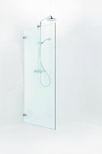 Ifö Stella 700 venstrehengt svingdør 66,4 cm, Klart glass/Krom beslag