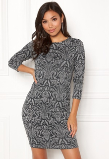 Happy Holly Blenda lurex dress Grey melange 32/34