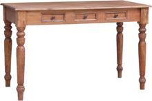 vidaXL Skrivbord med lådor 117x57x75 cm massivt återvunnet trä