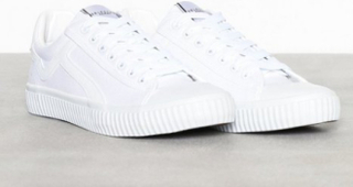 Selected Homme Slheric Canvas Trainer W Sneakers Vit