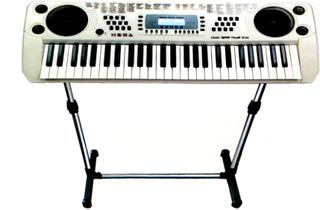 Keyboard med högtalare,54 tangenter