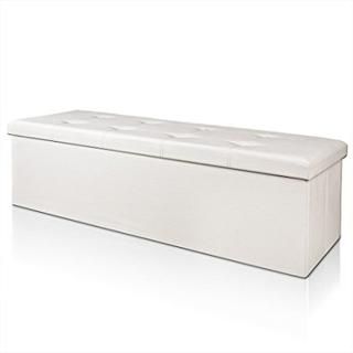 Benk med oppbevaring114 cm - hvit