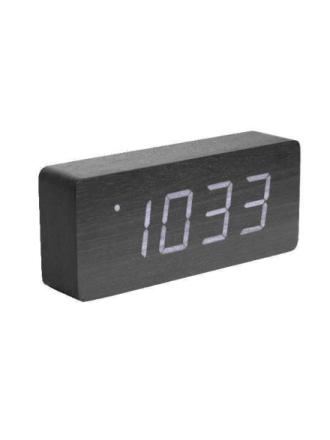 Black Wood Alarm Clock