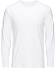 JACK & JONES Enkel Långärmad T-shirt Man White