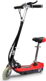 vidaXL elektrisk løbehjul med sæde 120 W rød