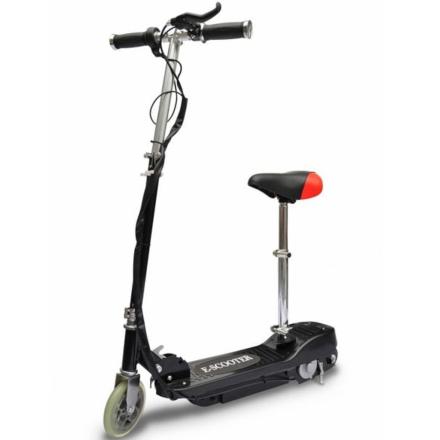 vidaXL elektrisk løbehjul med sæde 120 W sort