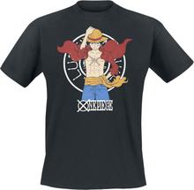 One Piece - Luffy New World -T-skjorte - svart