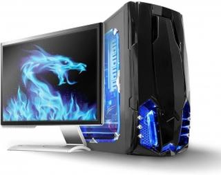 LED-ljuslist för spel | Blå | 40 cm | SATA-driven | Stationär dator