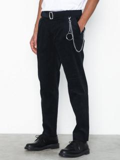 Topman Navy Corduroy Tapered Trousers Bukser Navy