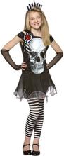 Barndräkt, skelettklänning 122/128 cl Halloween
