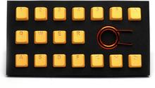 18-Key Gummi Double-shot Bakgrundsbelyst Keycap-set - Neonorange
