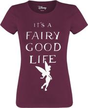 Peter Pan - Tinker Bell - It's A Fairy Good Life -T-skjorte - burgunder