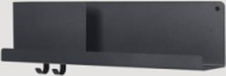 Muuto - Folded Shelves - Hylla - Black Medium - L62 cm H16,5 cm D12,4 cm